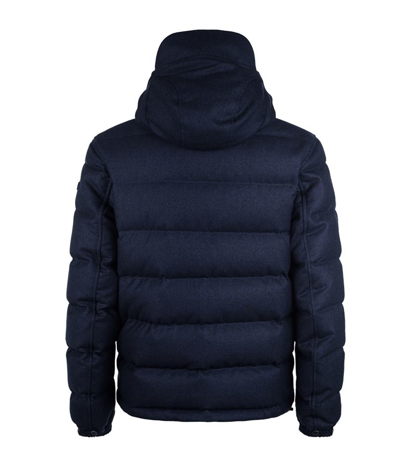 Burberry Brit Wool Puffer Jacket in Blue for Men