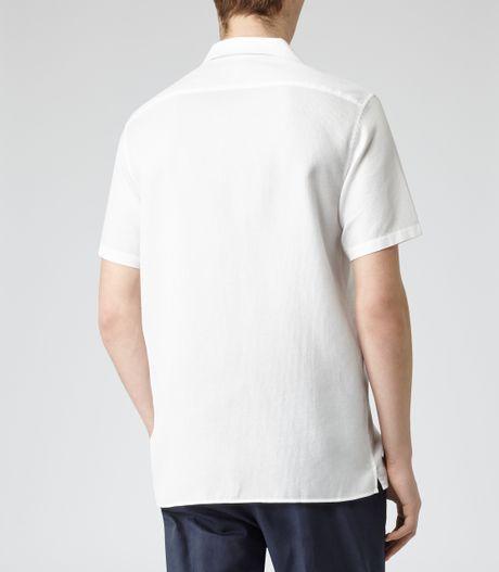 White Cuban Collar Shirt Images