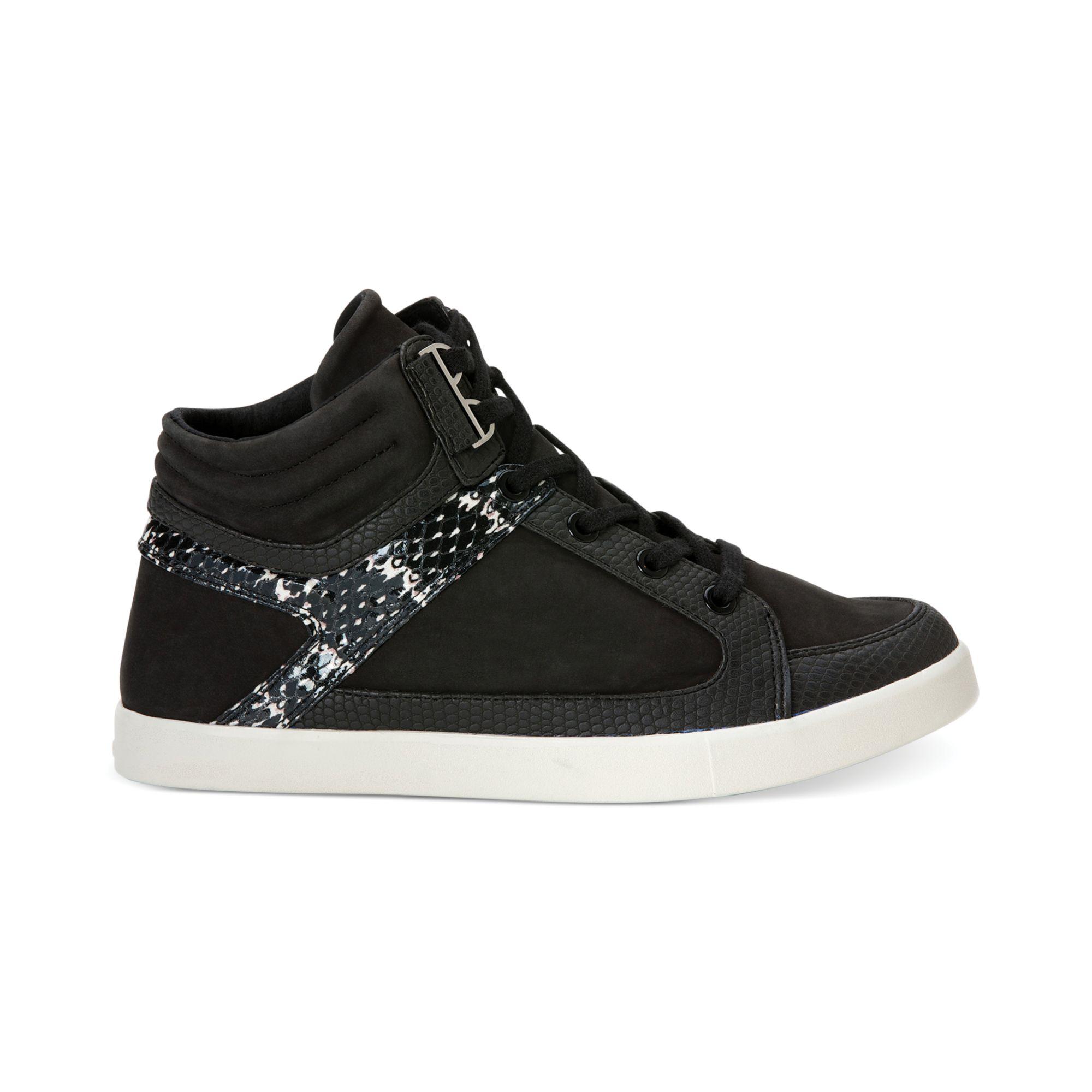 calvin klein women 39 s lyda high top sneakers in black lyst. Black Bedroom Furniture Sets. Home Design Ideas