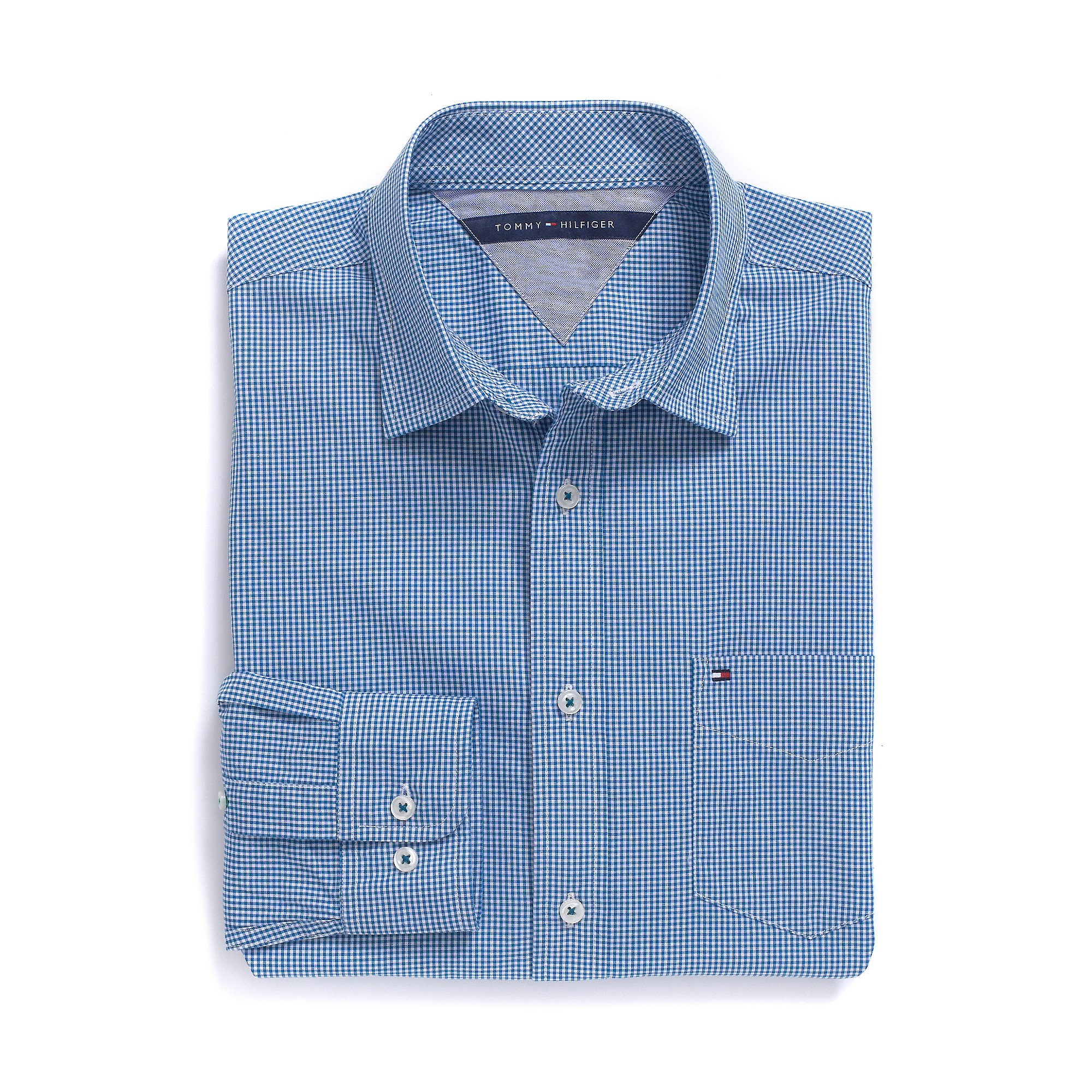 Tommy Hilfiger Classic Fit Shirt Long Sleeve Shirt In Blue