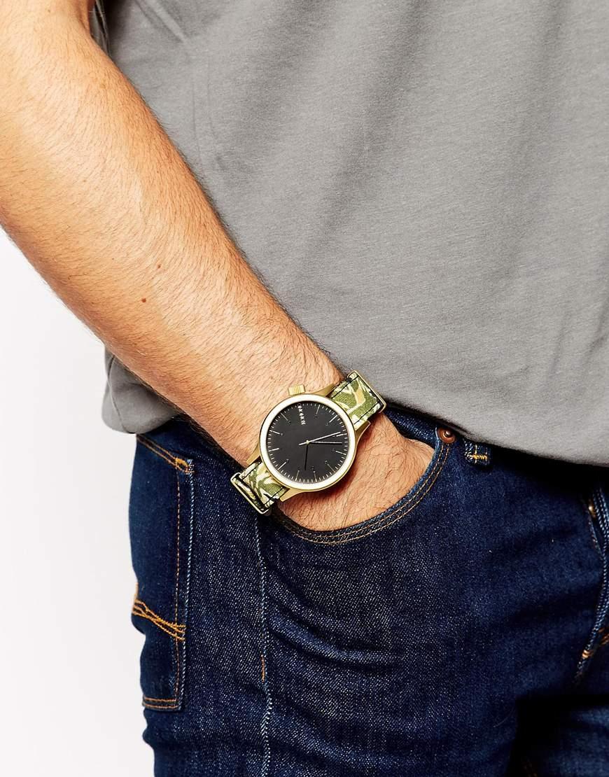 Green Magnus Watch For Strap Komono Camo Printed Men EW29DIH