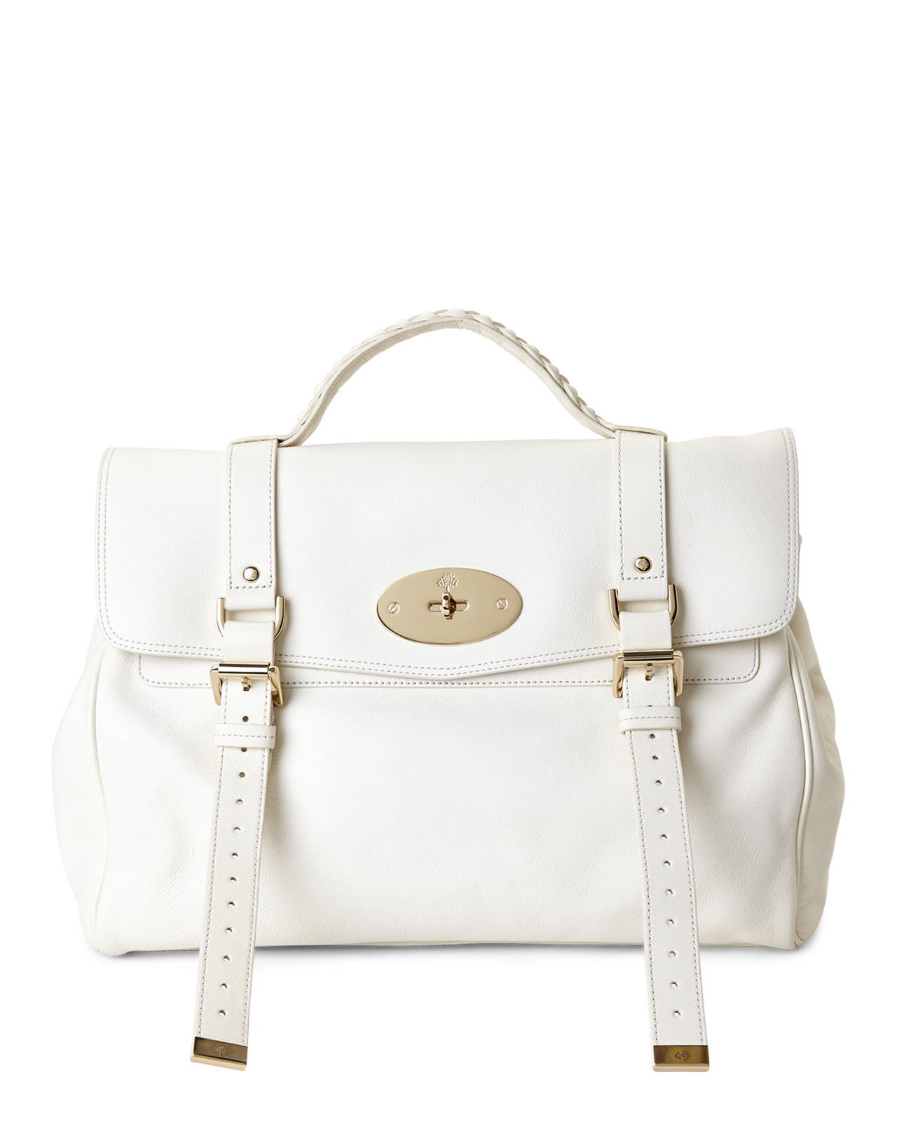 f10afe2aff5 ... cheapest lyst mulberry cream oversized alexa handbag in white 72c8d  51f7f ...