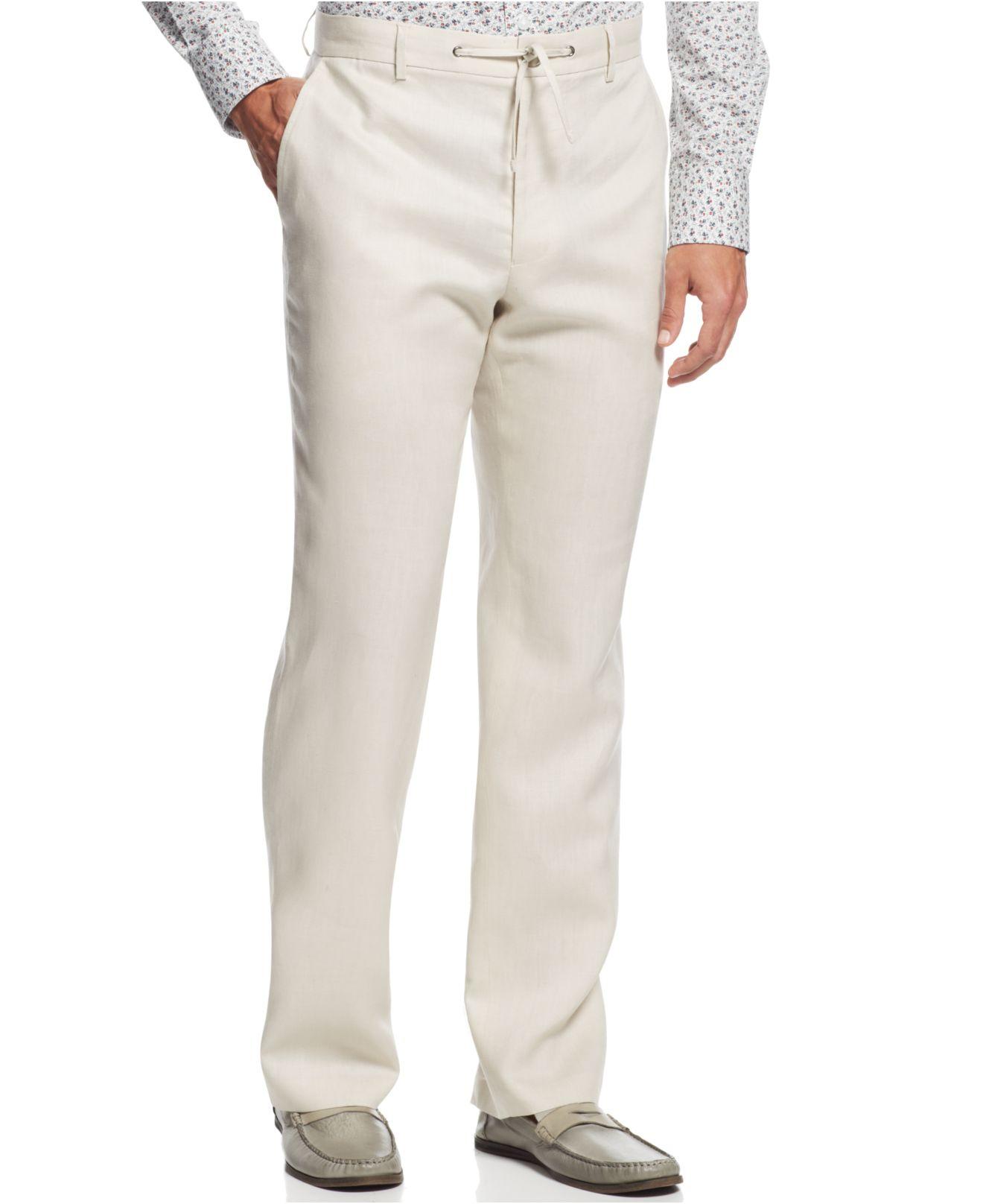 Inc International Concepts Men S Smith Linen Blend Pants