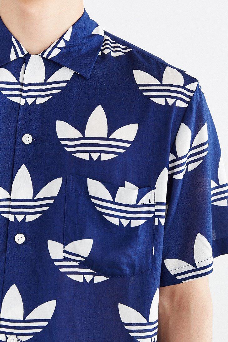 adidas Originals X Nigo 25 Aloha Trefoil Button-down Shirt in Navy ...