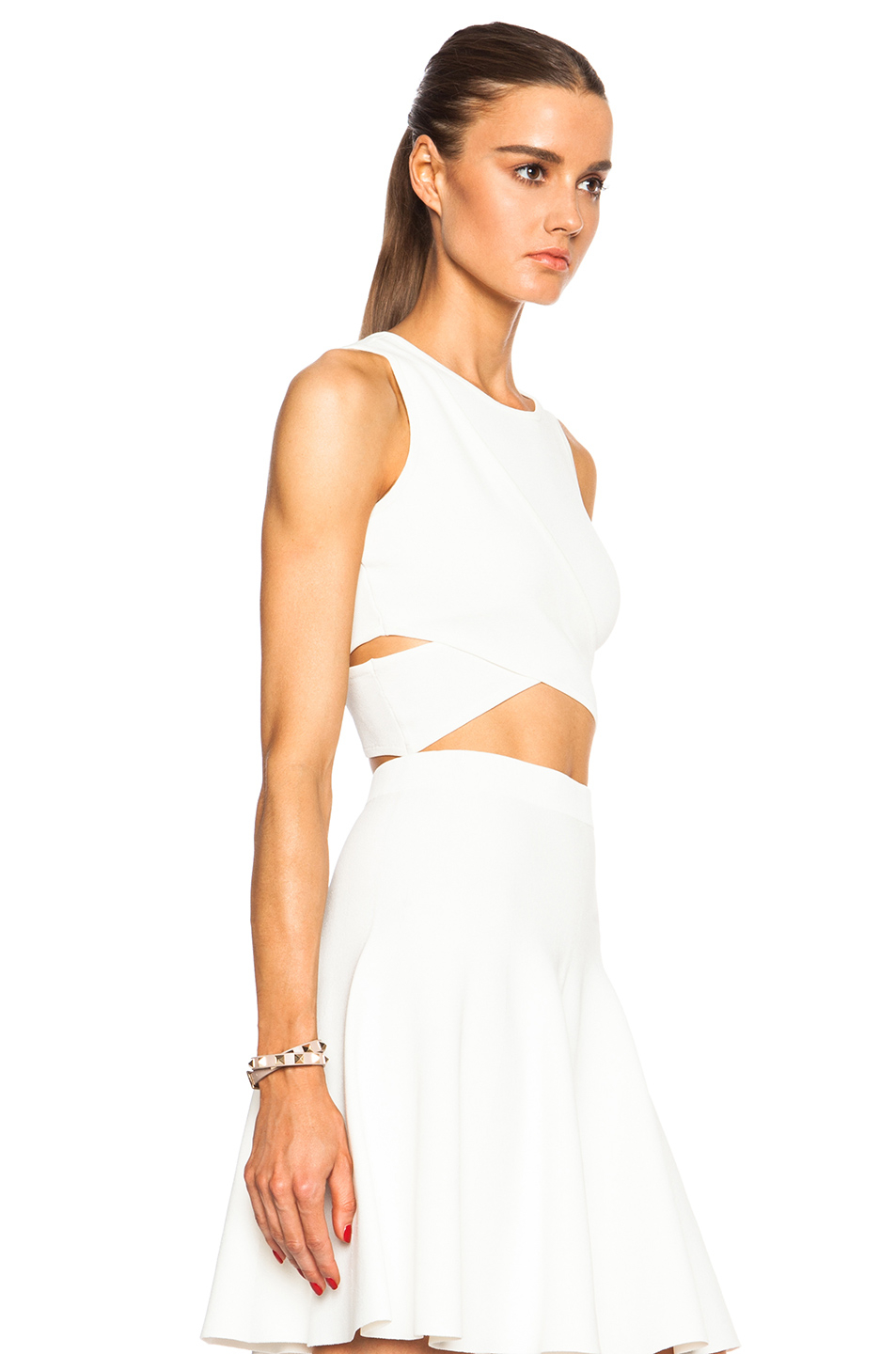 black crossover crop top lyst jonathan simkhai crossover crop top in white 3261