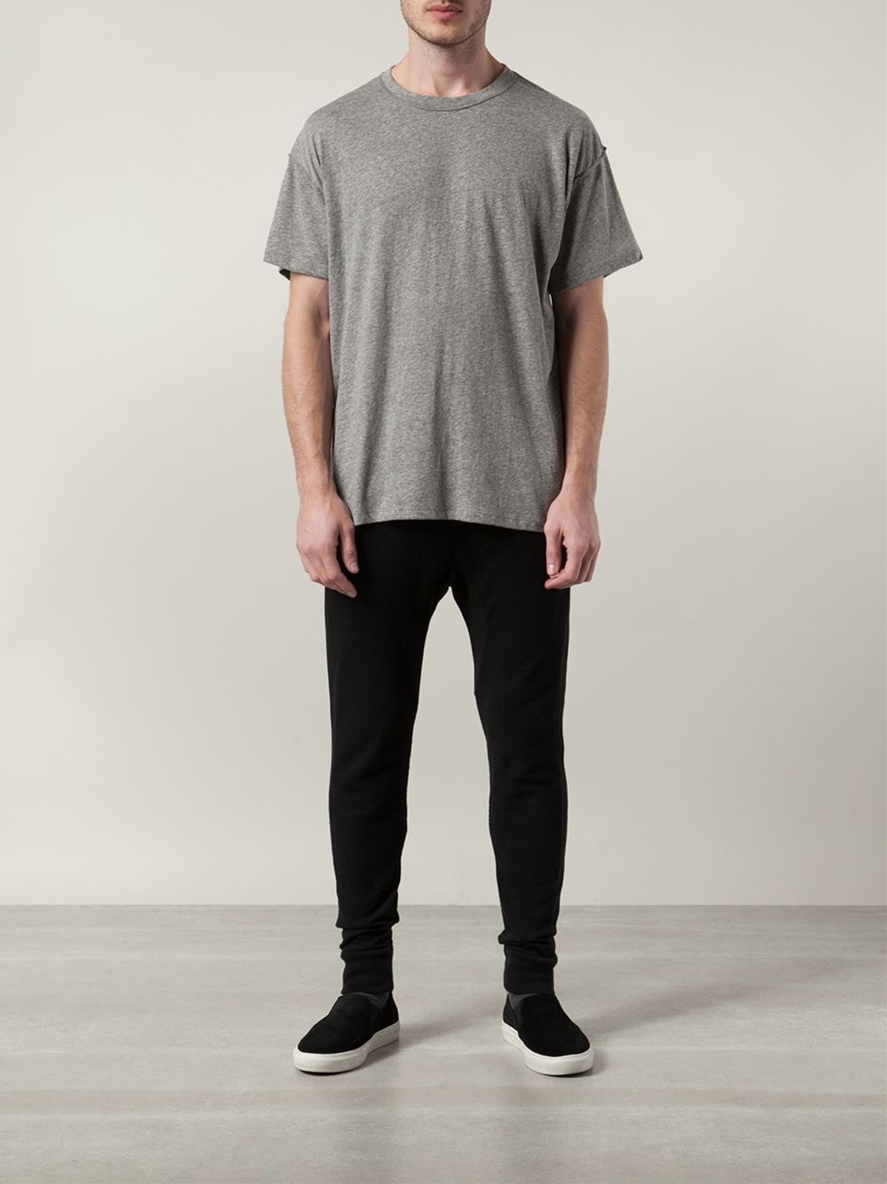 Fear Of God Crew Neck T Shirt In Gray For Men Lyst