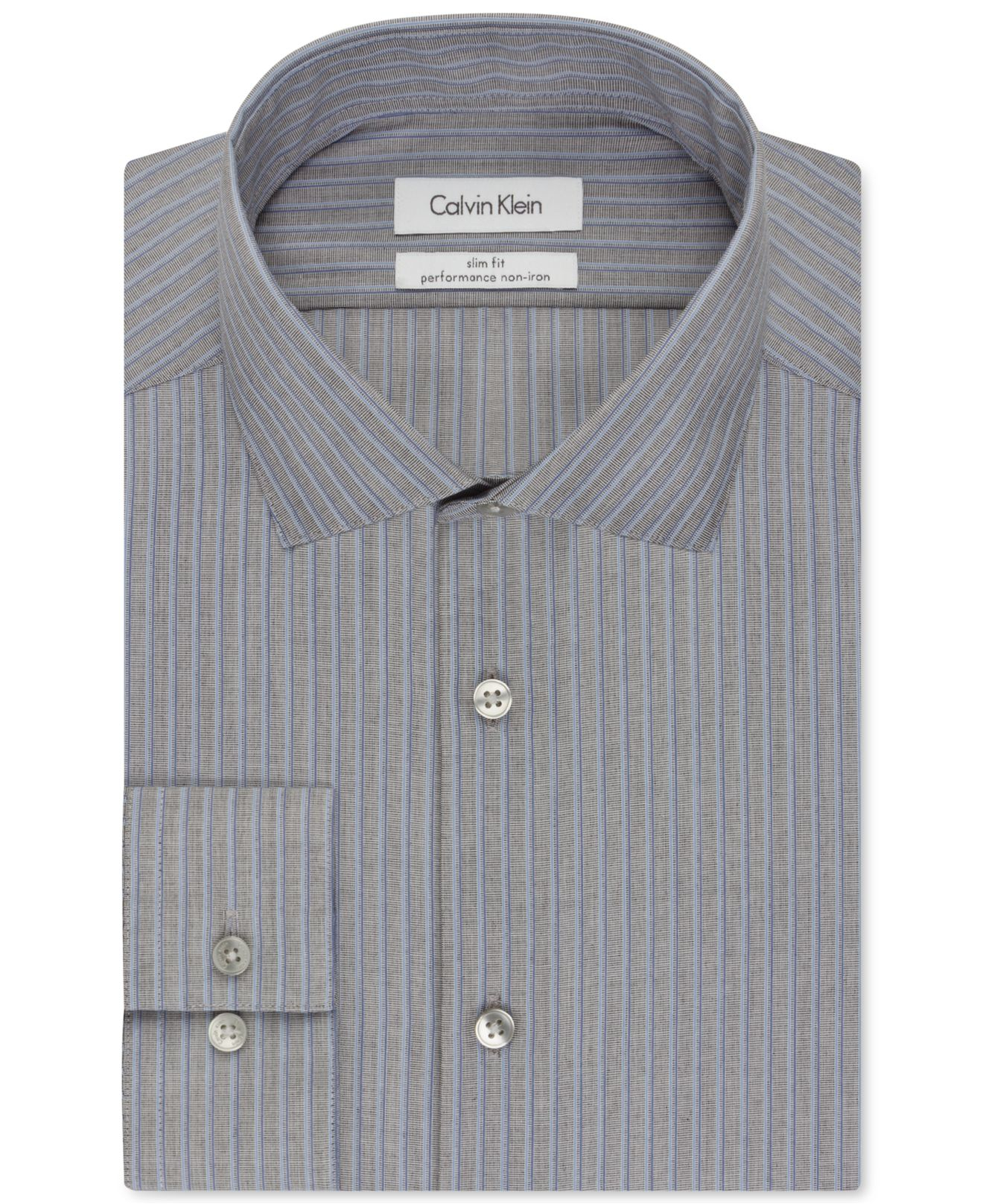 Calvin klein steel slim fit non iron performance seagull for No iron slim fit dress shirts