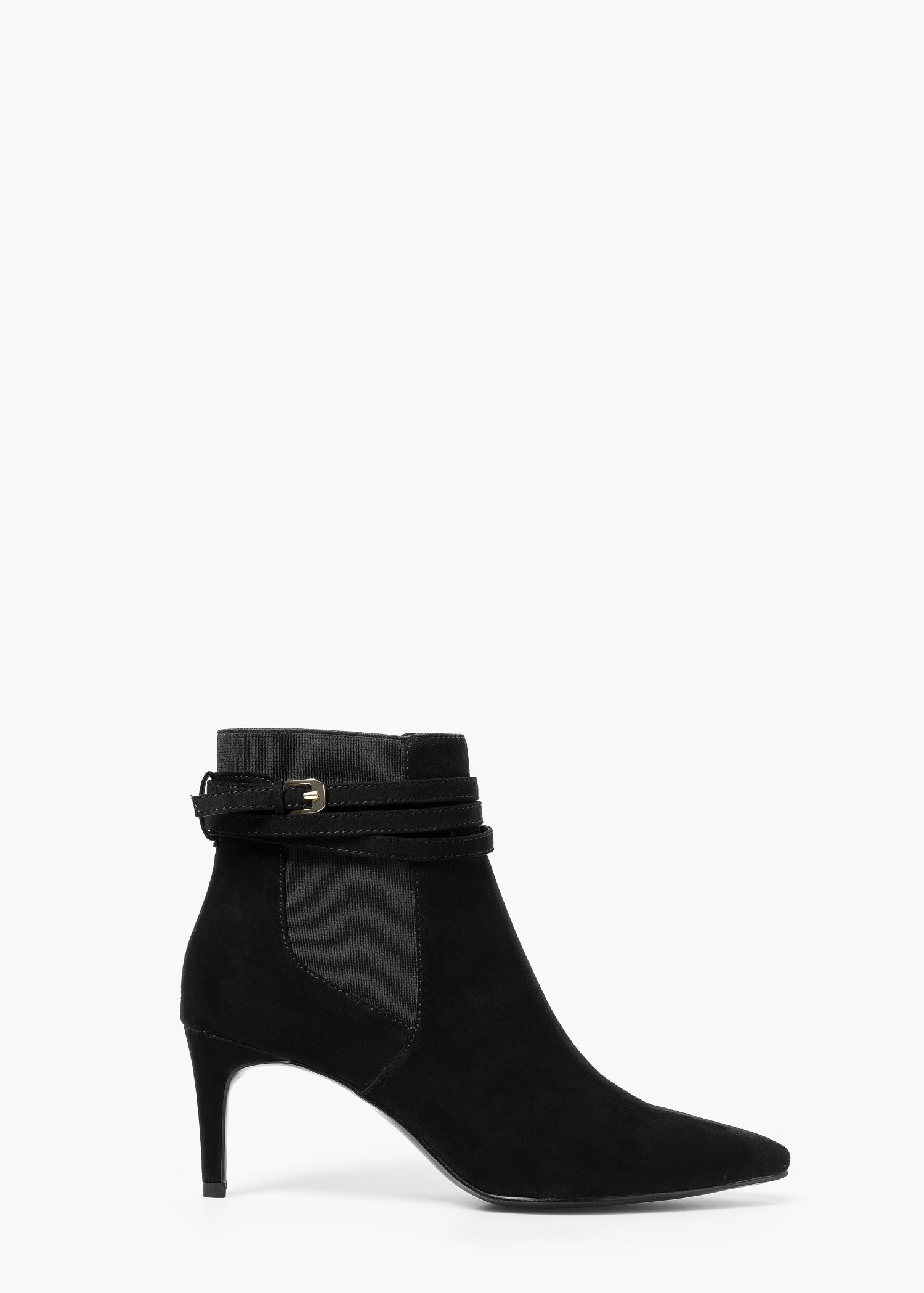 Mango Buckle Ankle Boots in Black | Lyst