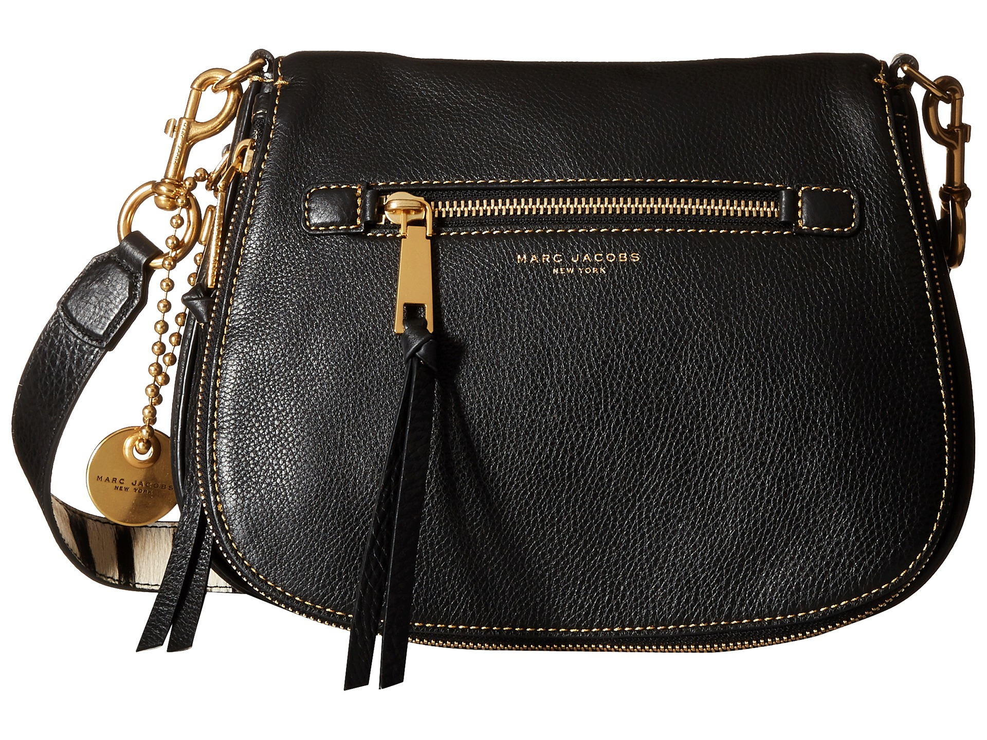 ae5a6d5f0 Marc Jacobs Recruit With Guitar Strap Saddle Bag in Black - Lyst