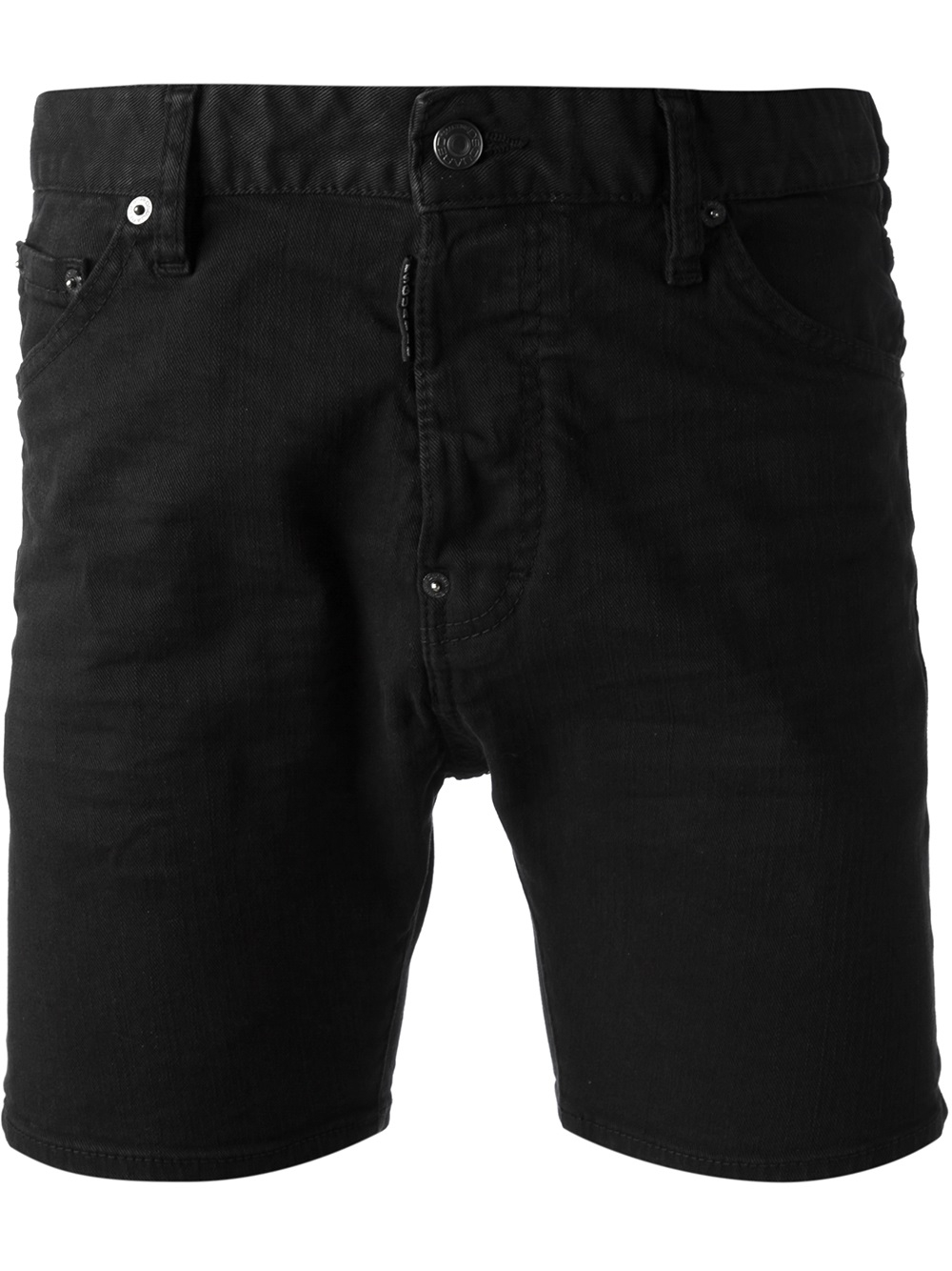Lyst Dsquared 178 Denim Shorts In Black For Men