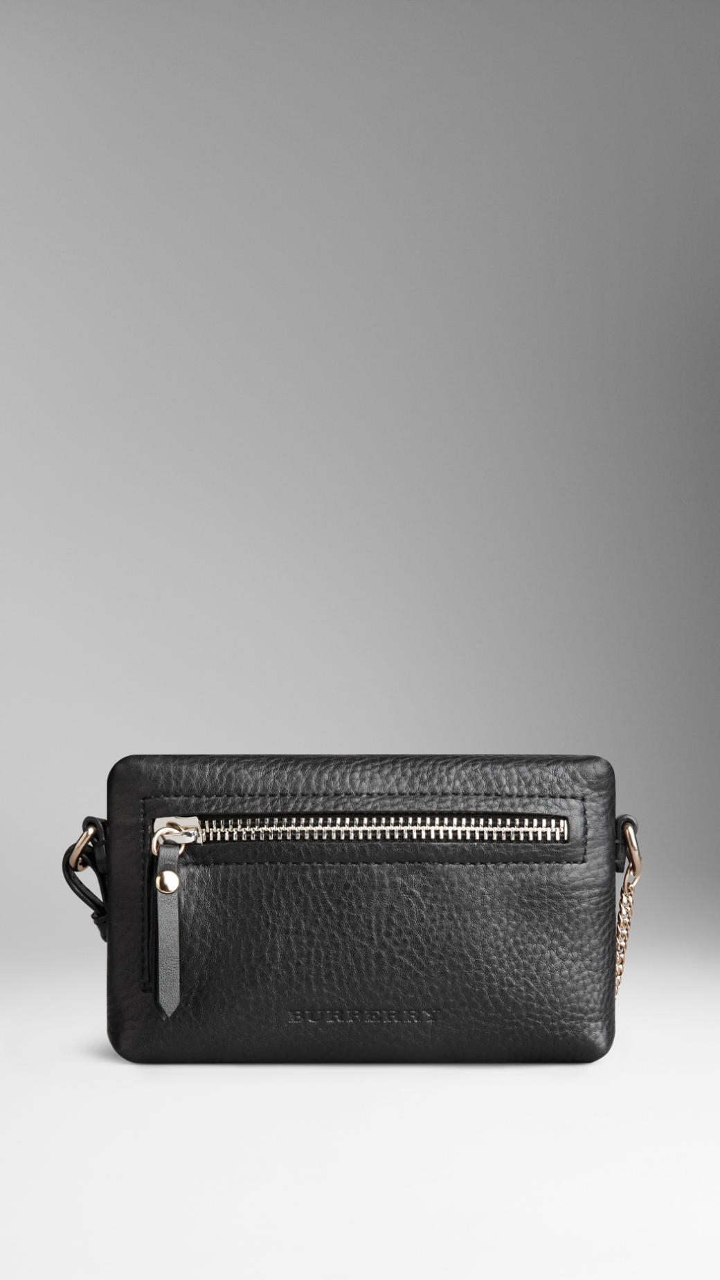 84a5fba83369 Lyst Burberry Mini Grainy Leather Crossbody Bag In Black