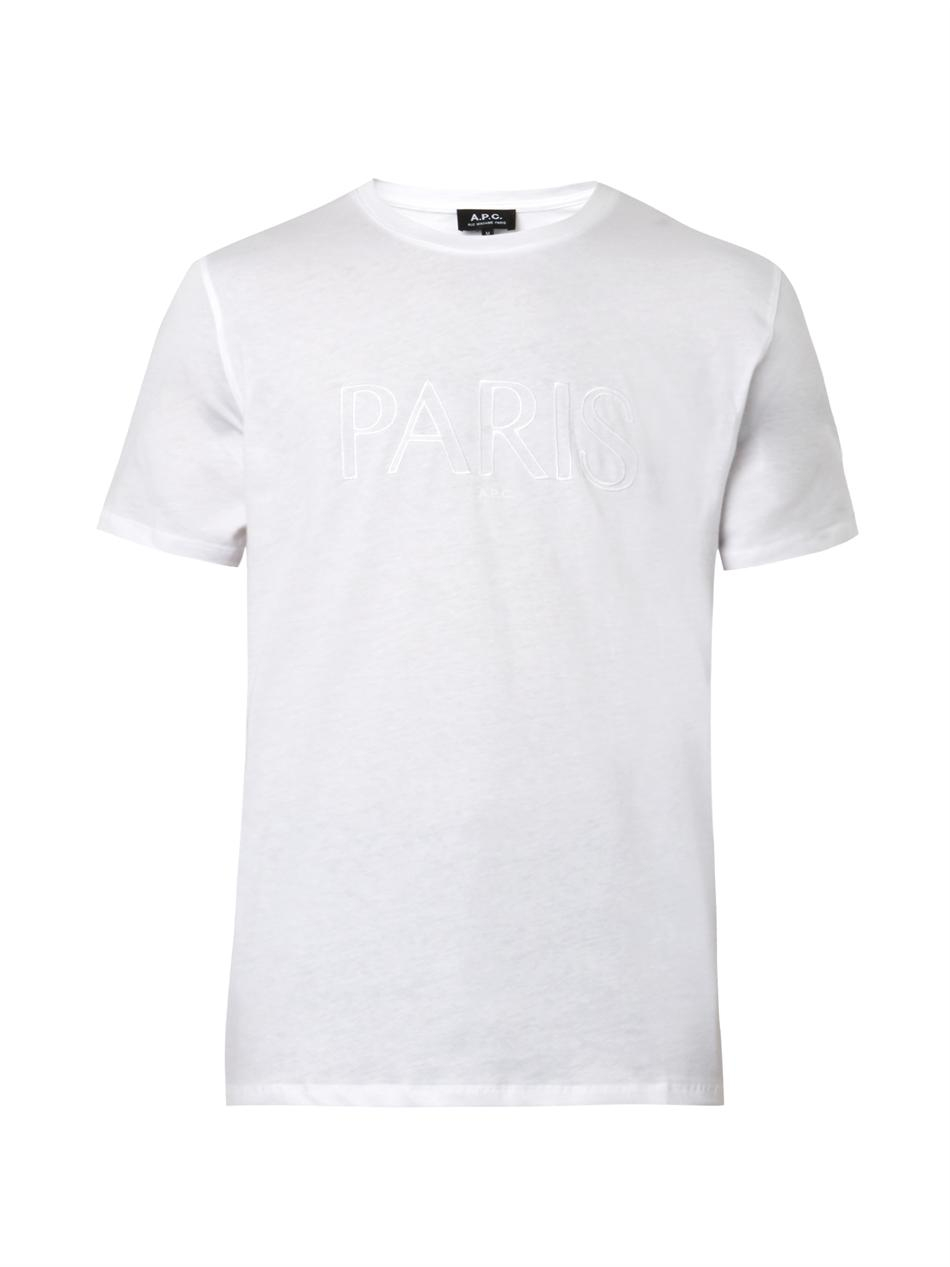Lyst a p c cotton broderie tshirt in white for men for Apc white t shirt