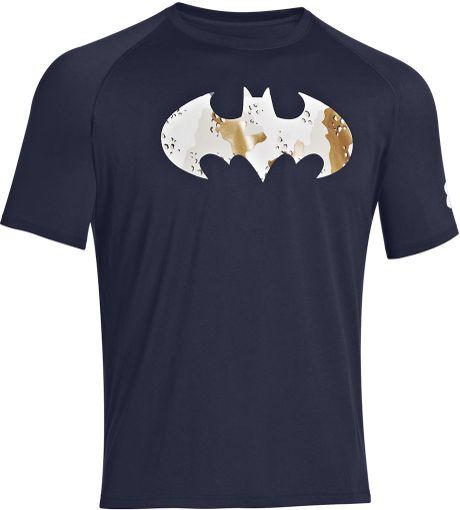 Under Armour Alter Ego Camo Batman Graphic Tshirt In Blue
