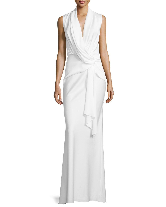 Camilla Amp Marc Cowl Neck Draped Dress In White Lyst