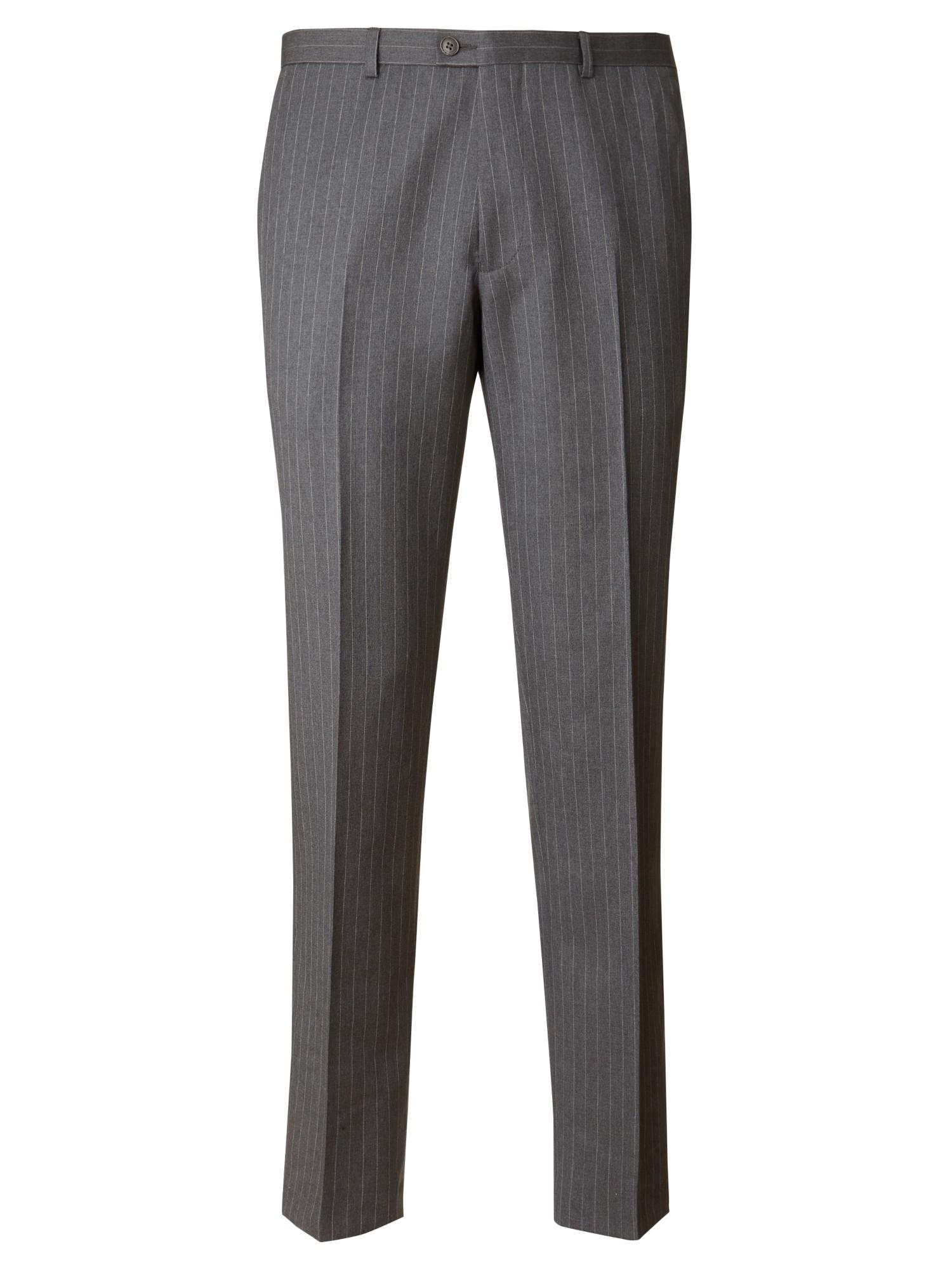 John Lewis Wool Tailored Italian Pinstripe Suit Trousers in Grey (Grey) for Men