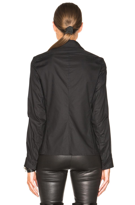Ann Demeulemeester Cotton Button Down Shirt In Black Lyst