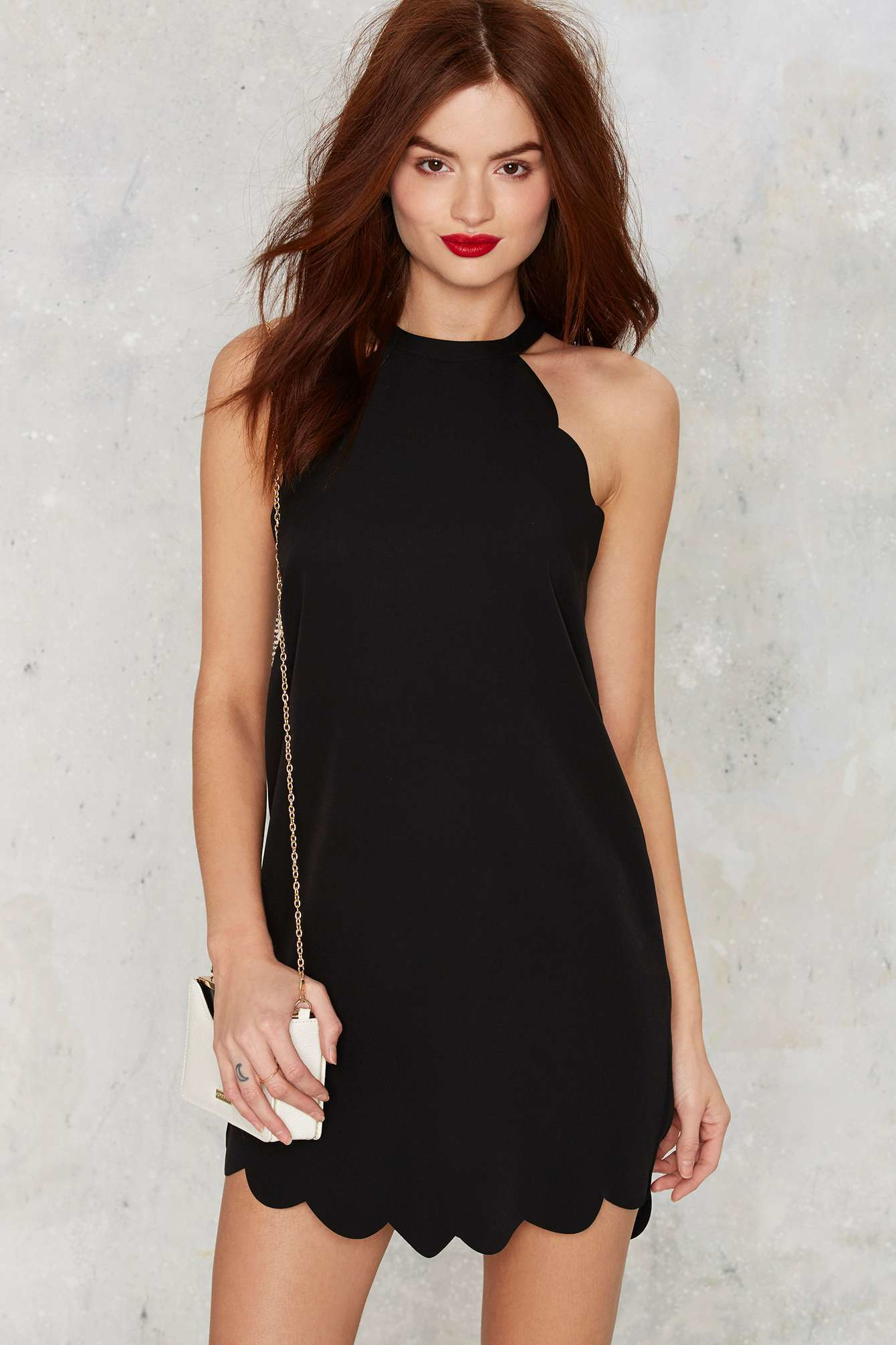 Nasty Gal Above The Curve Halter Dress In Black Lyst