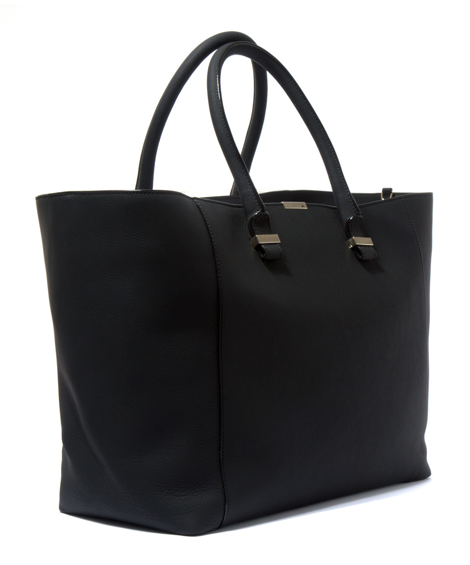 Victoria beckham Black Liberty Buffalo Leather Tote Bag in ...