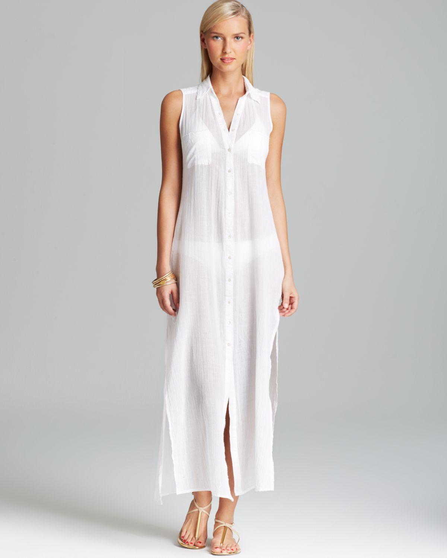 a91e98375 OndadeMar Eden Hues Maxi Dress Swim Cover Up in White - Lyst