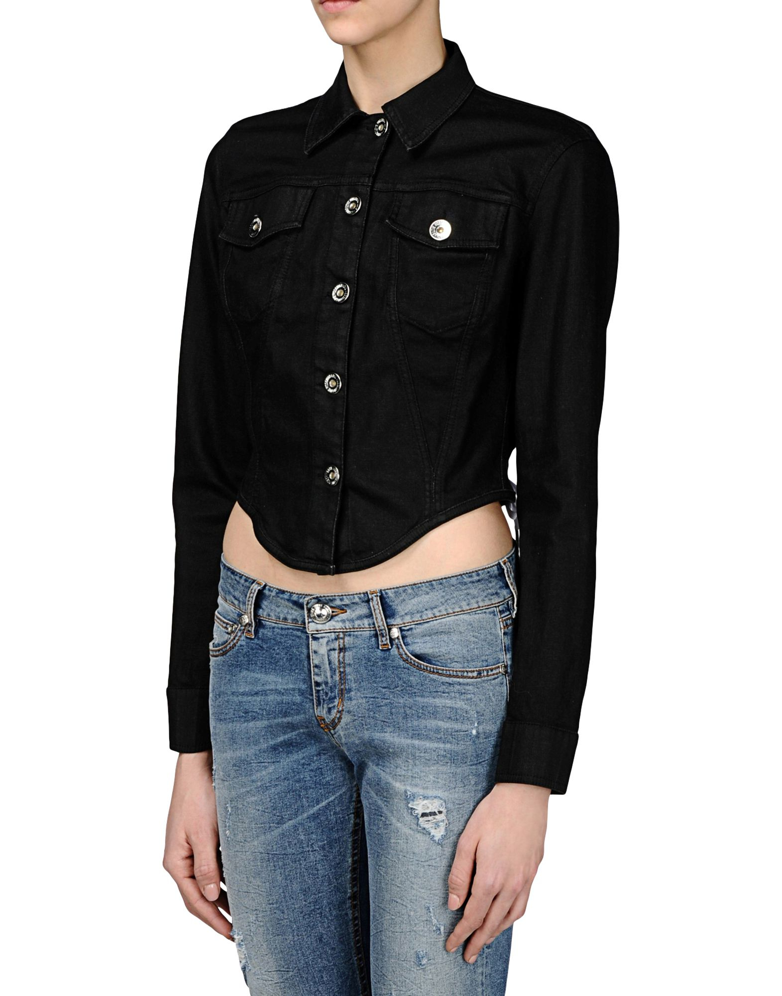 Love moschino Military-style Jacket in Black