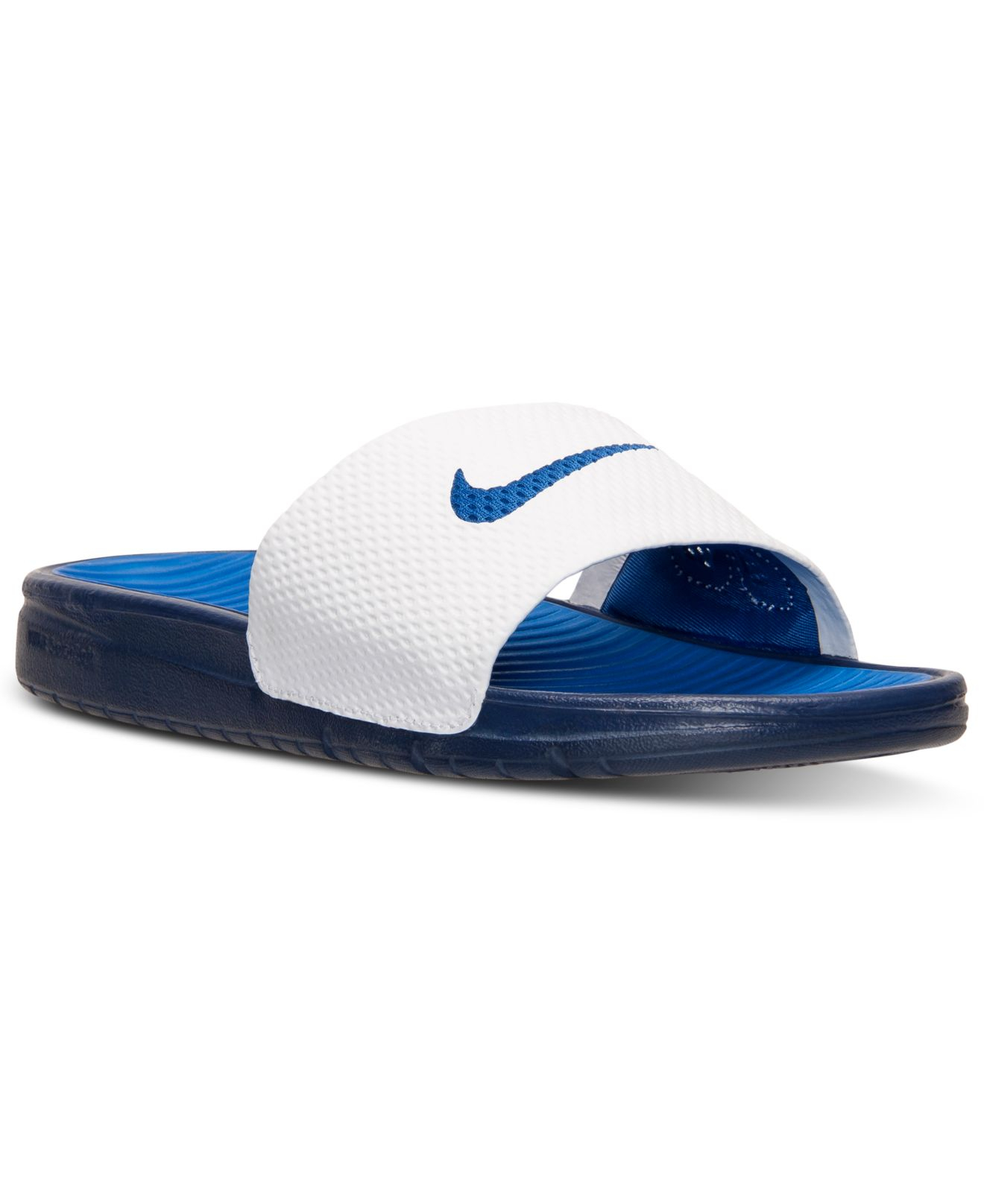 3a68449cd96 ... inexpensive lyst nike mens solarsoft slide sandals from finish line in  blue for men cd723 7d844