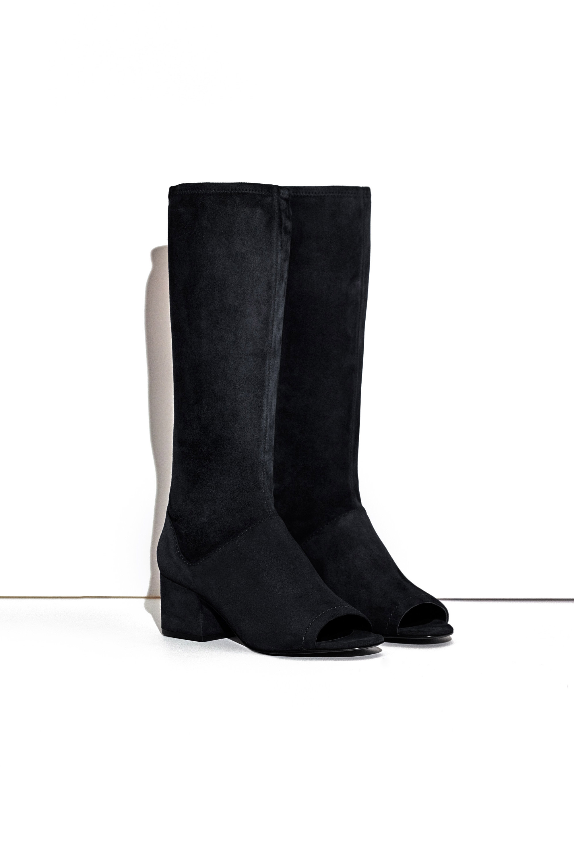 3.1 Phillip Lim Suede Cube Open-toe Boot in Night (Blue)