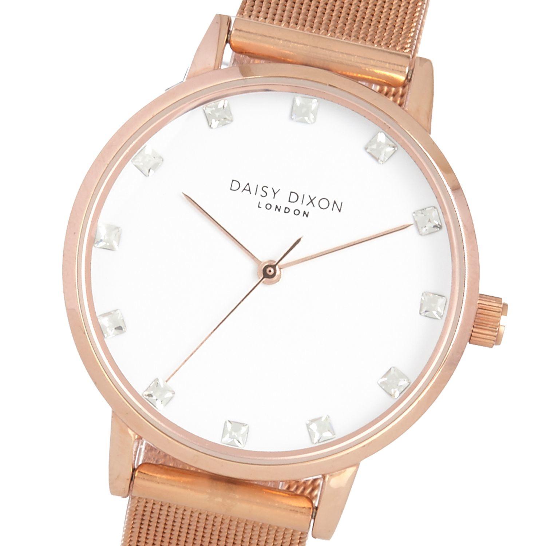 Lyst - River Island Daisy Dixon Olivia Mesh Strap Watch in Natural 8e1b80c356a5