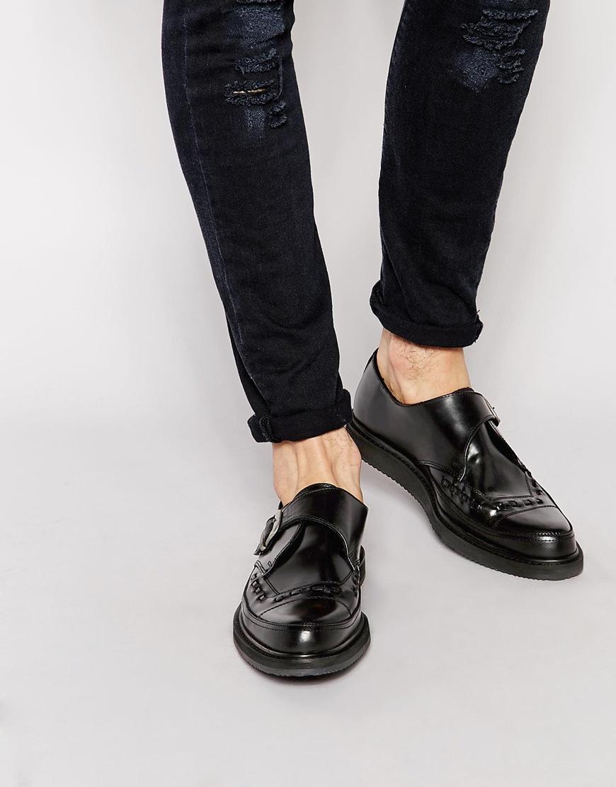 Asos Monk Shoes Black