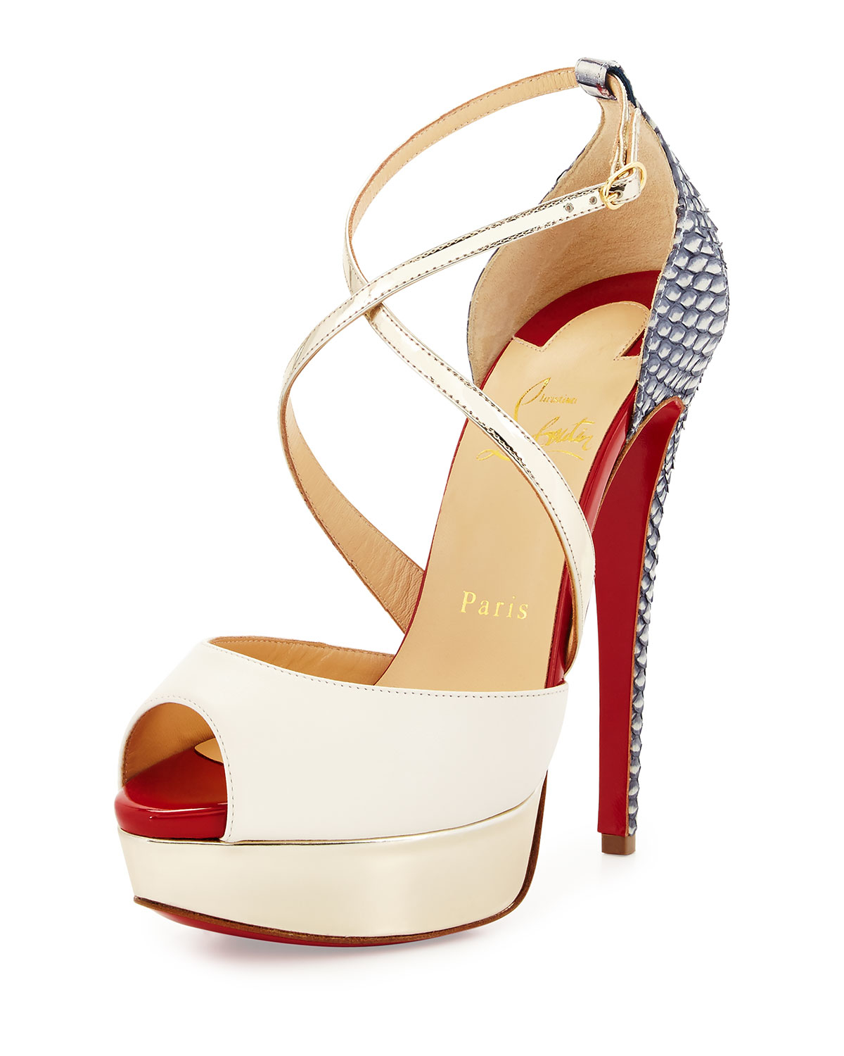 christian louboutin multi strap sandals | cosmetics digital ...