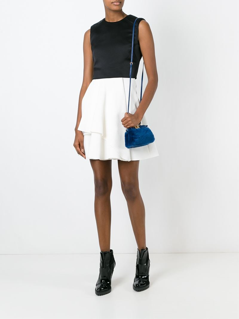 Fendi Micro 'peekaboo' Tote in Blue