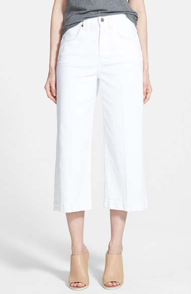 7 for all mankind Cropped Gaucho Pants in White | Lyst