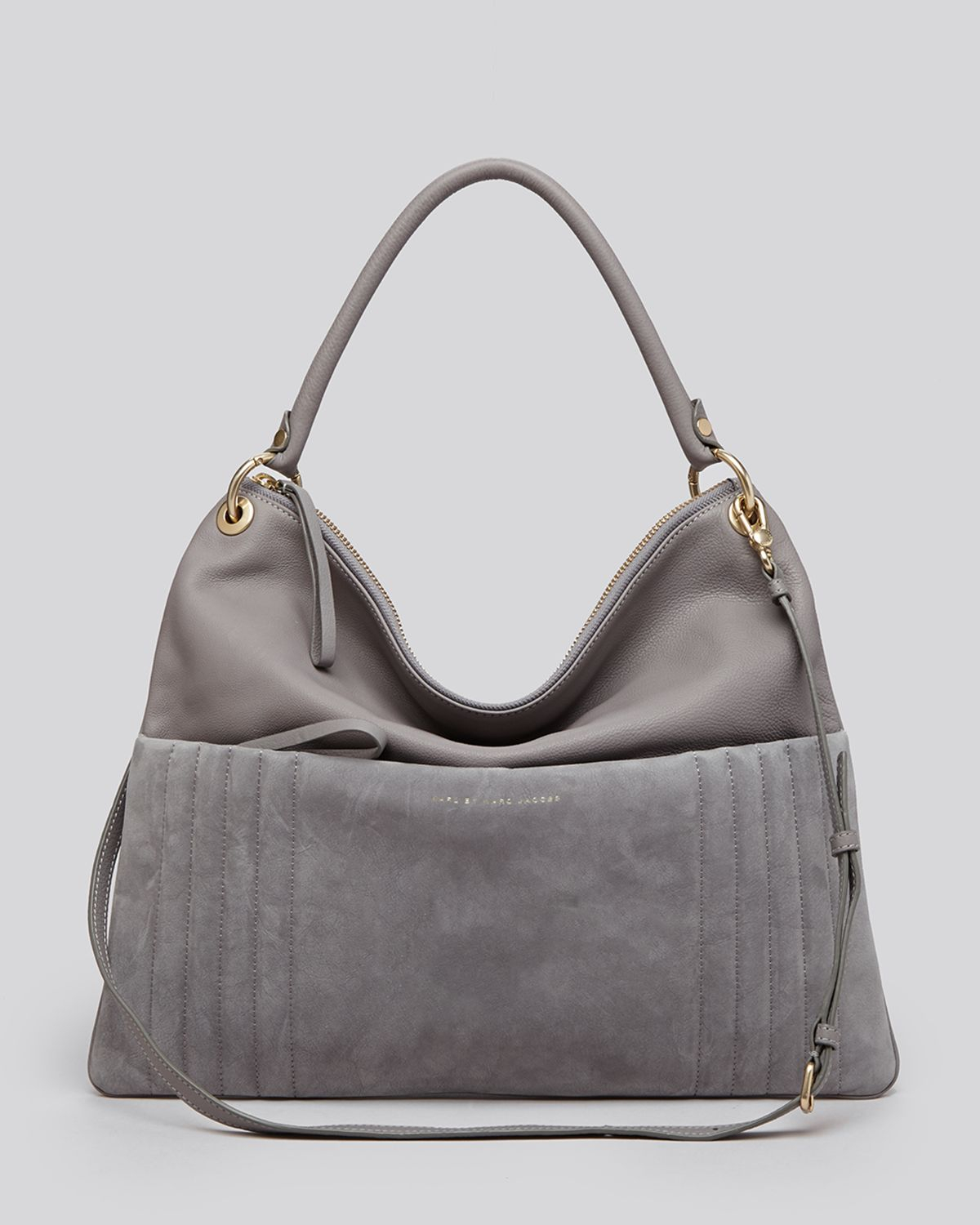 marc by marc jacobs hobo tread lightly in gray lyst. Black Bedroom Furniture Sets. Home Design Ideas