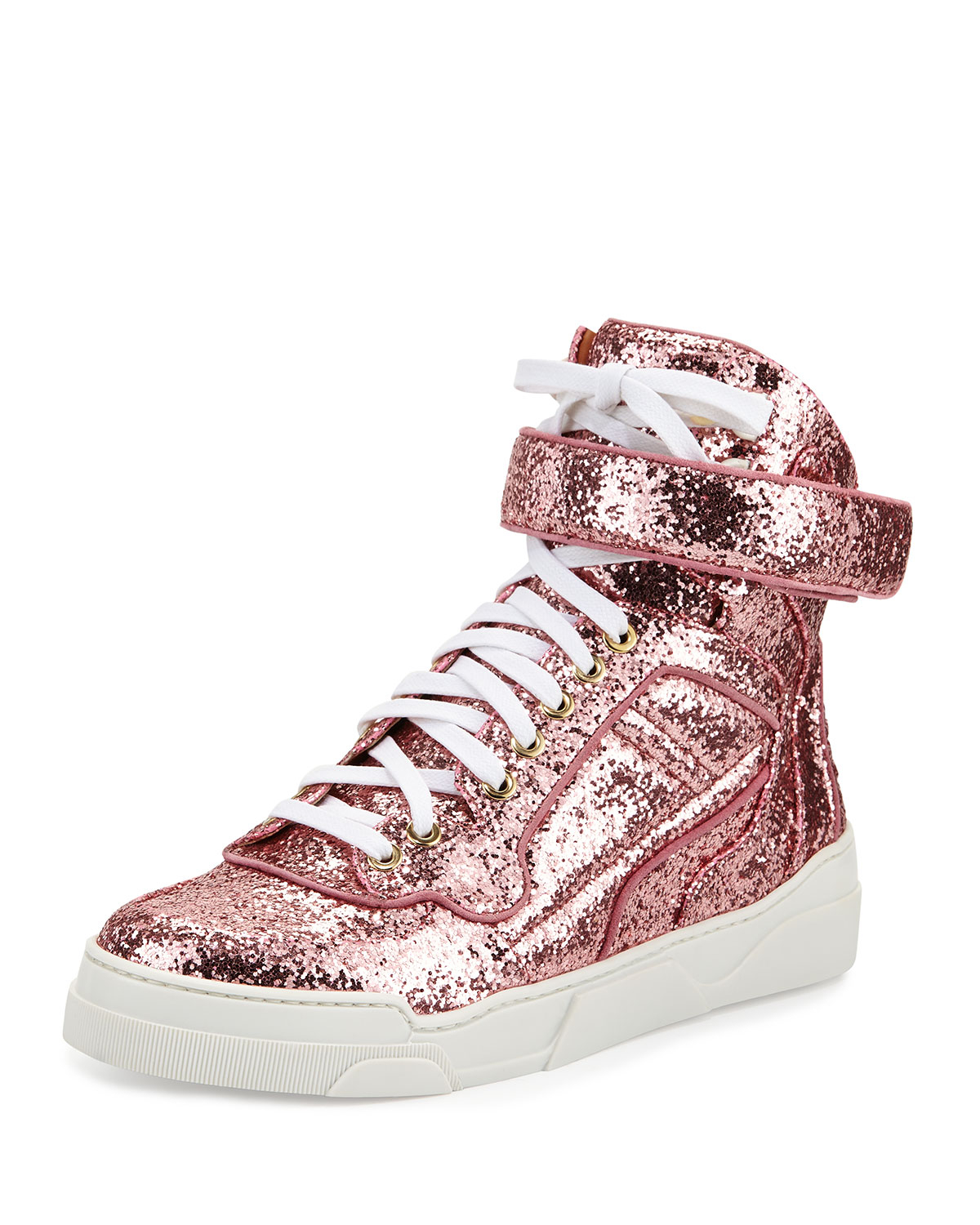 Givenchy Leather Glitter High-top