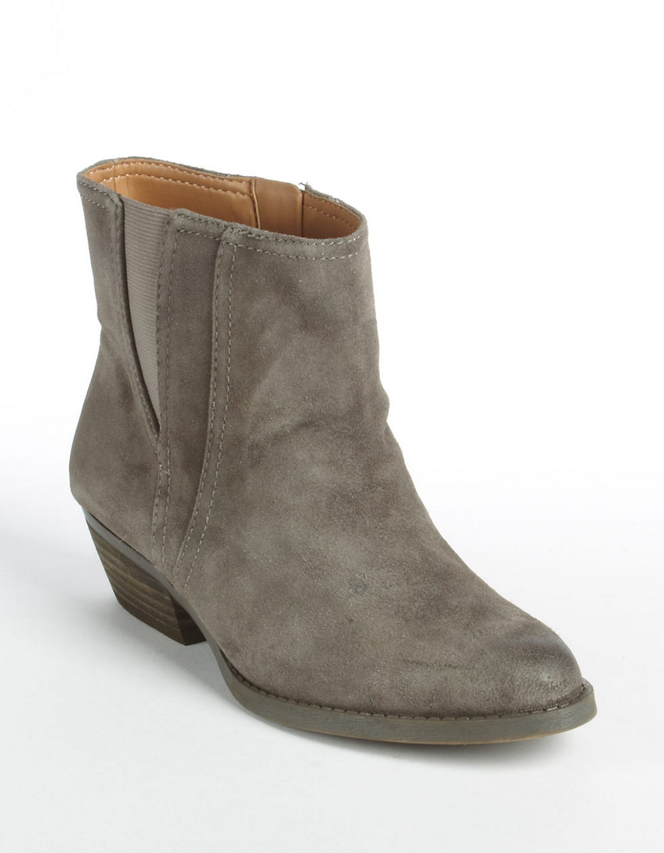 nine west sloane suede boots in gray lyst