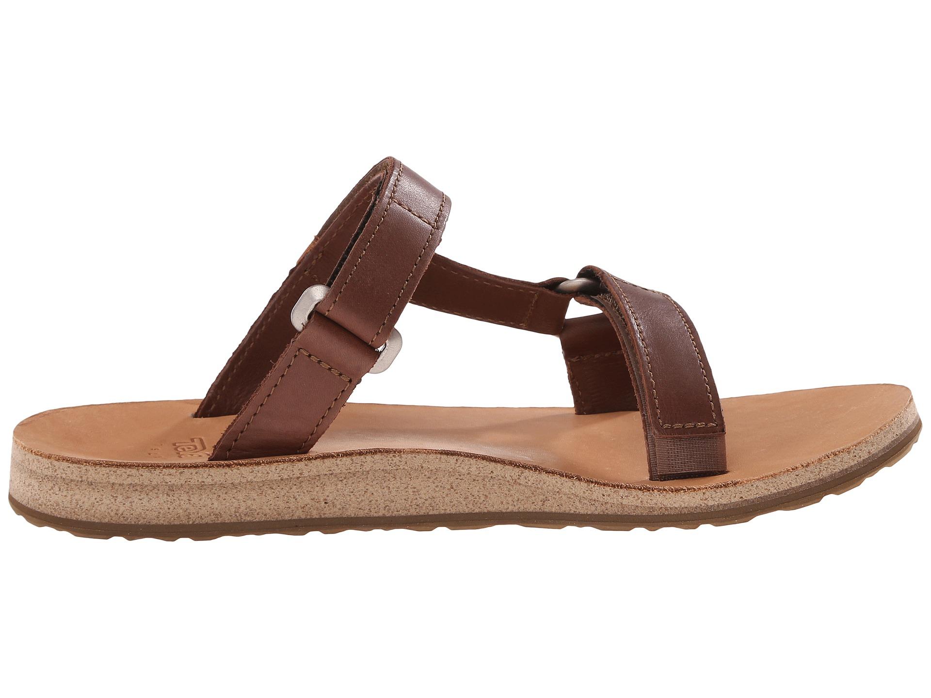 7361afd05792 Lyst - Teva Universal Slide Leather in Brown