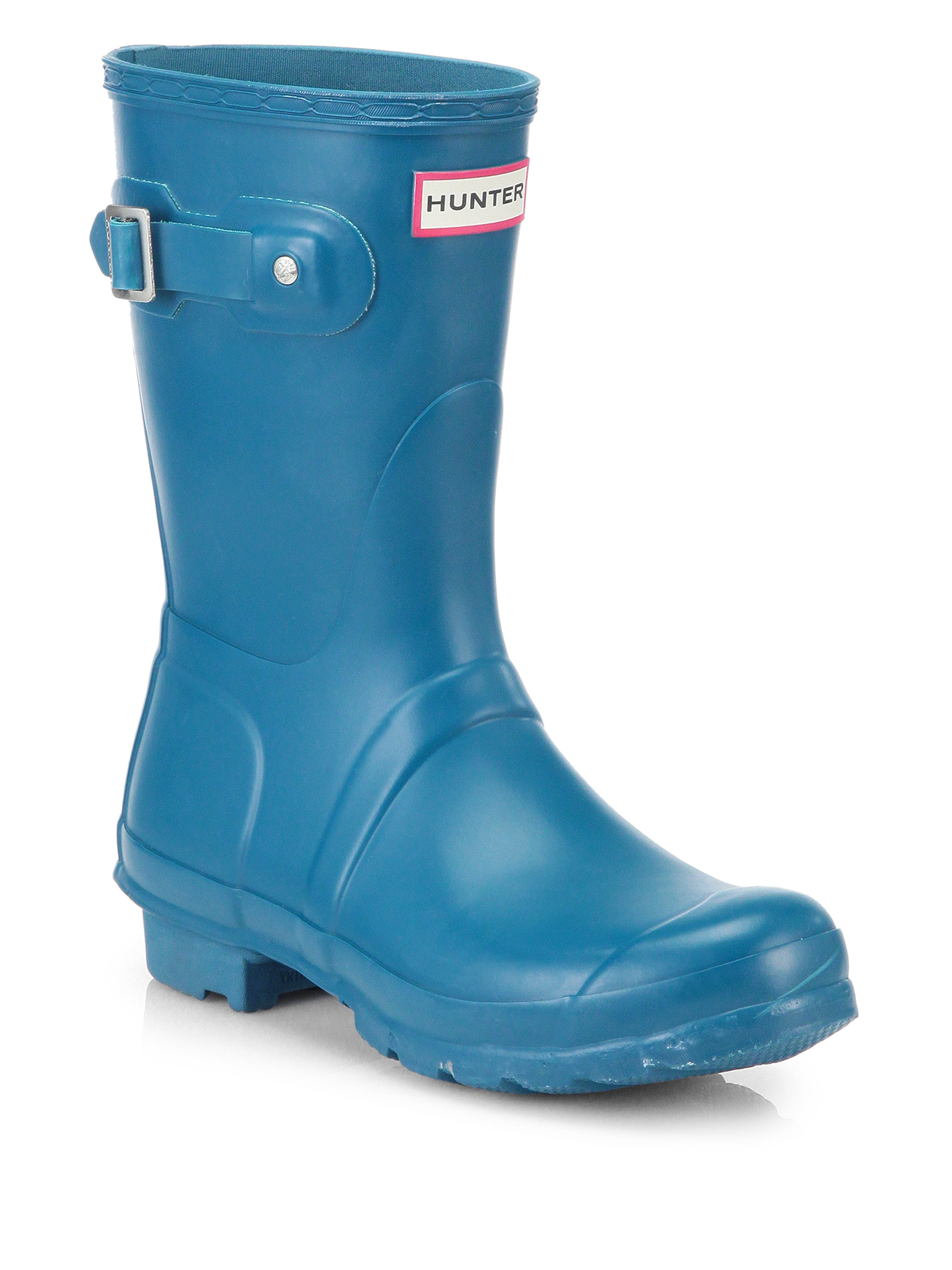 Hunter Original Short Rain Boots In Blue Lyst