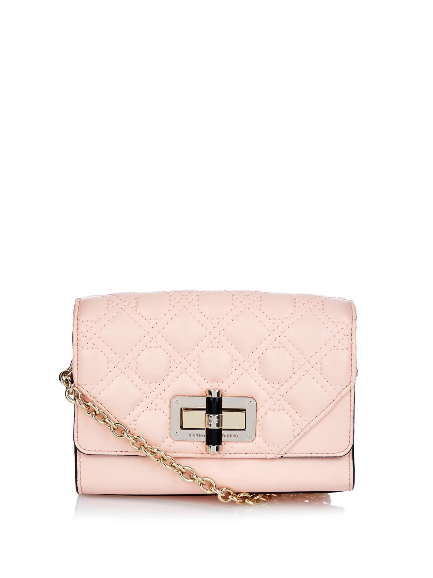 41868bd8ca5f Diane von Furstenberg Pink 440 Gallery Micro Mini Shoulder Bag