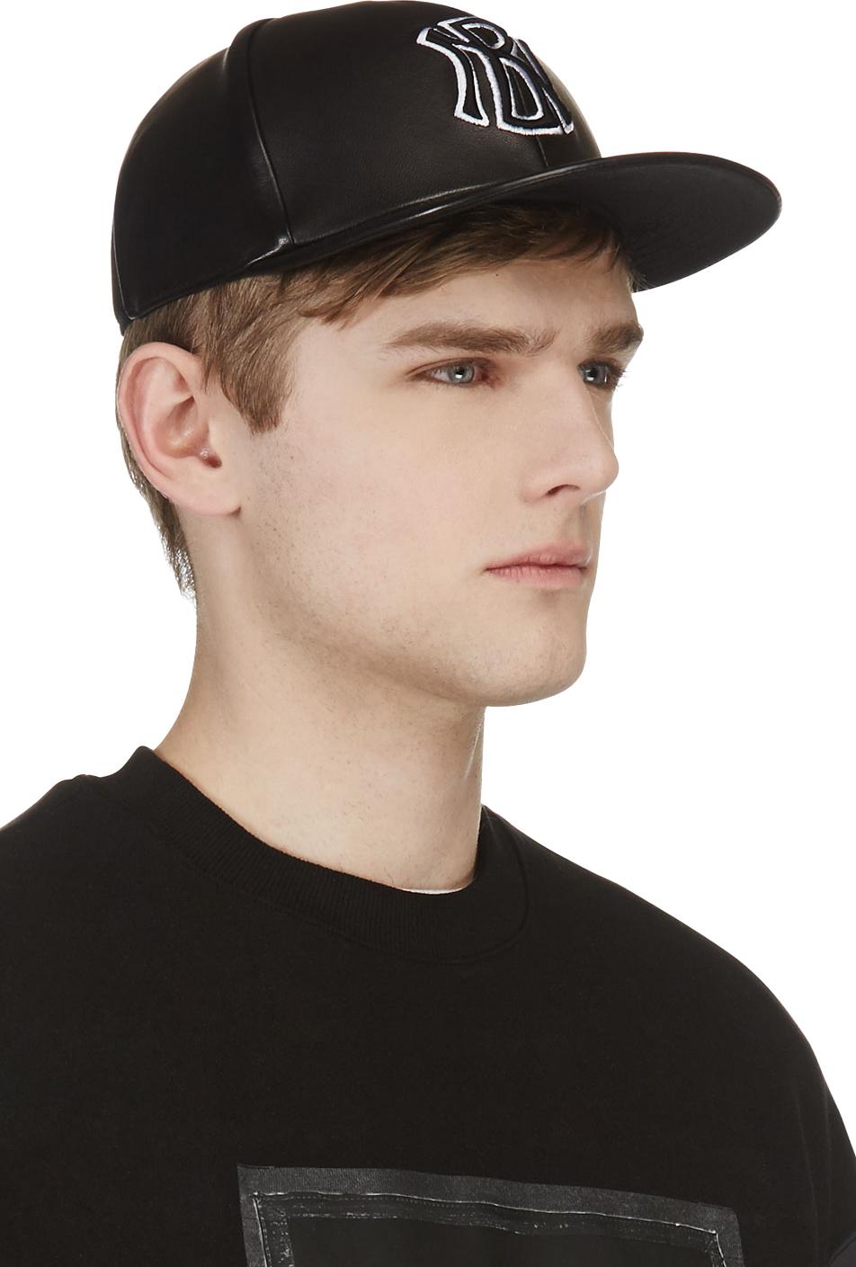 Lyst Neil Barrett Black Leather Embroidered Logo