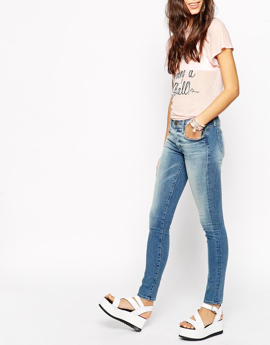 Lyst Wildfox Marianne Skinny Jeans In Blue