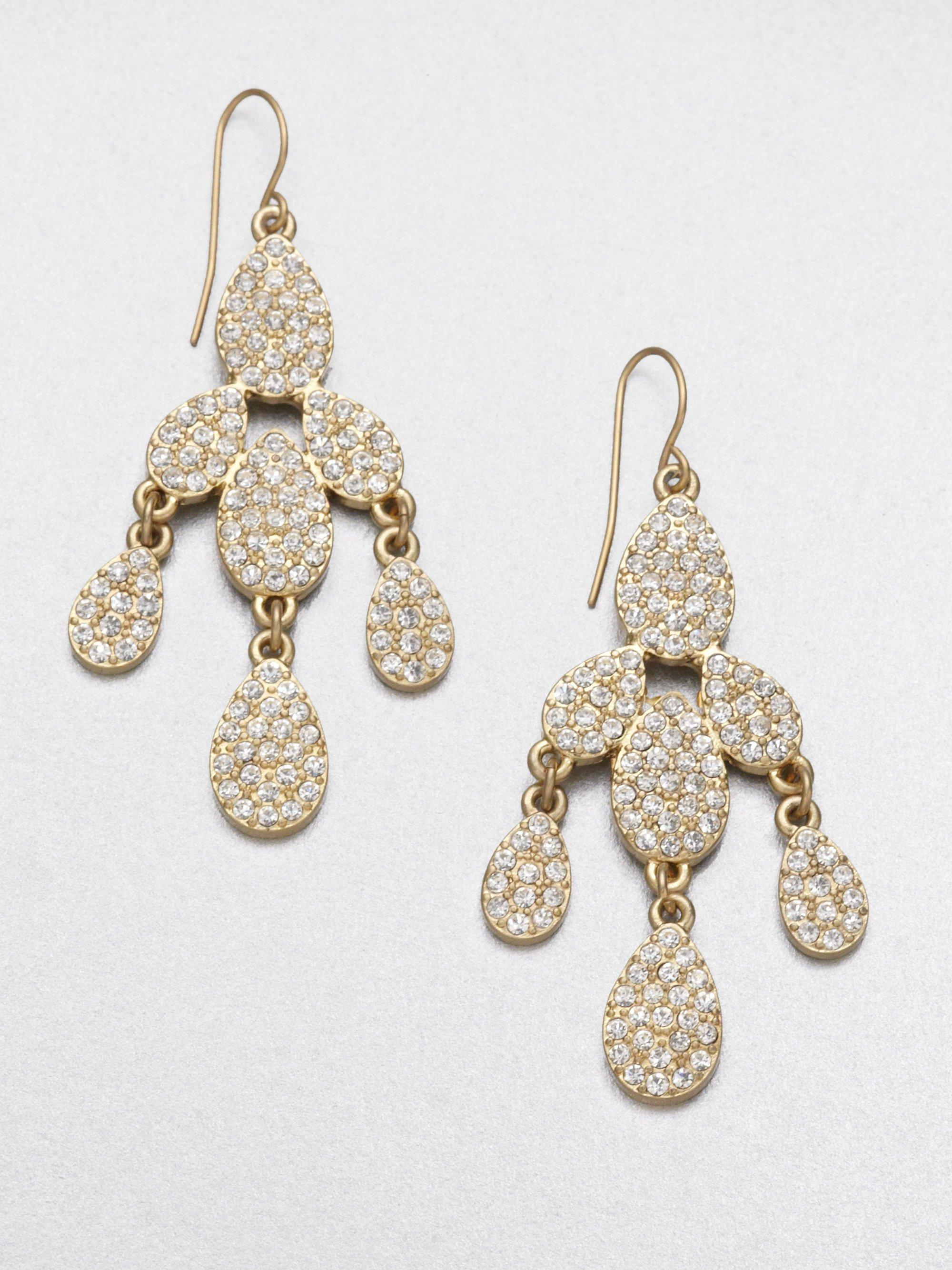 abs by allen schwartz pav 233 chandelier earrings in metallic