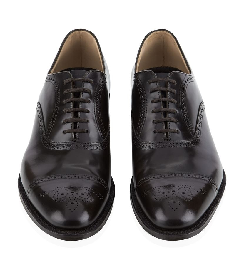 church s punched oxford shoe in black for lyst