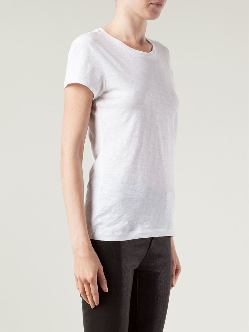 Lyst rag bone 39 brando 39 t shirt in white for Rag and bone t shirts