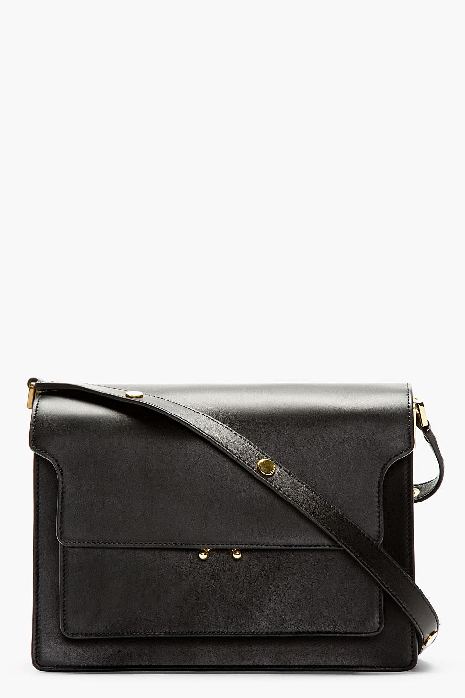 Marni Black Leather Small Shoulder Bag - Lyst