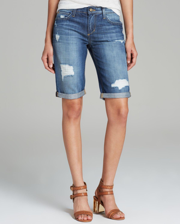 Cuffed Jean Shorts Men