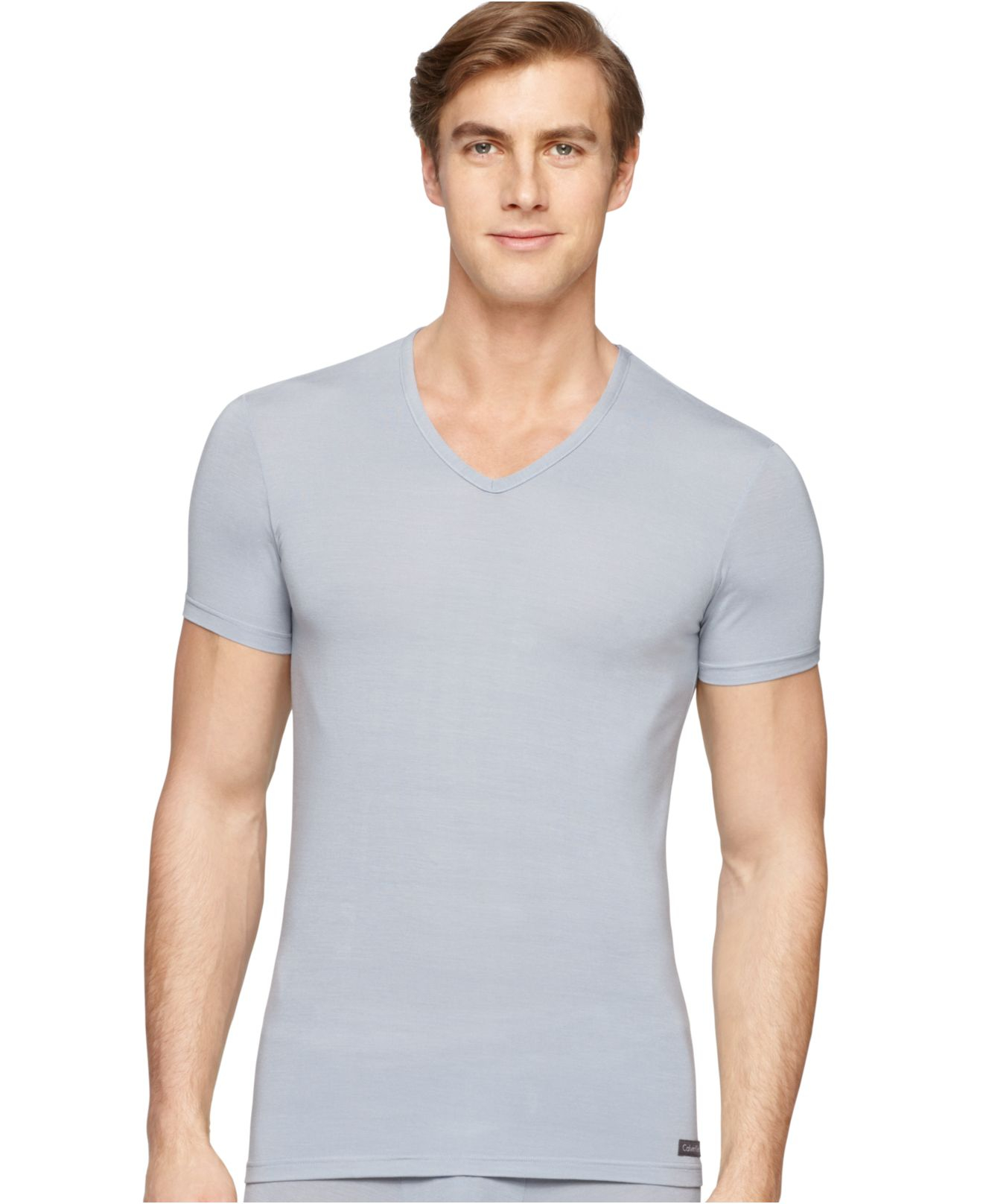 Lyst calvin klein micro modal v neck t shirt u5576 in for Modal t shirts mens