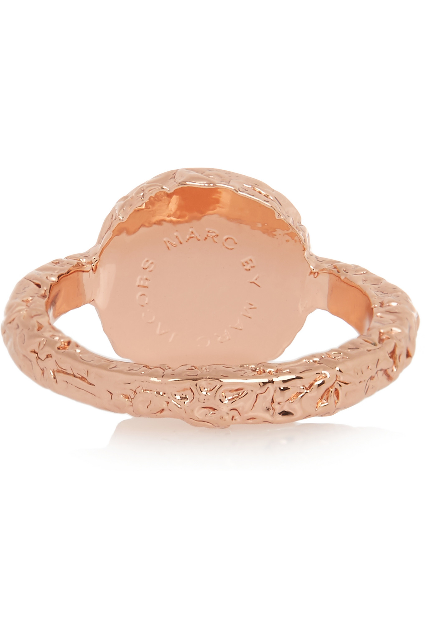 Marc By Marc Jacobs Rose Gold-tone Crystal Ring in Pink