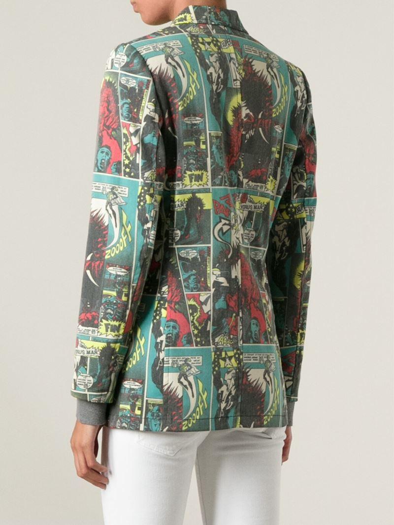 Lyst Jean Paul Gaultier Comic Print Jpg Jacket