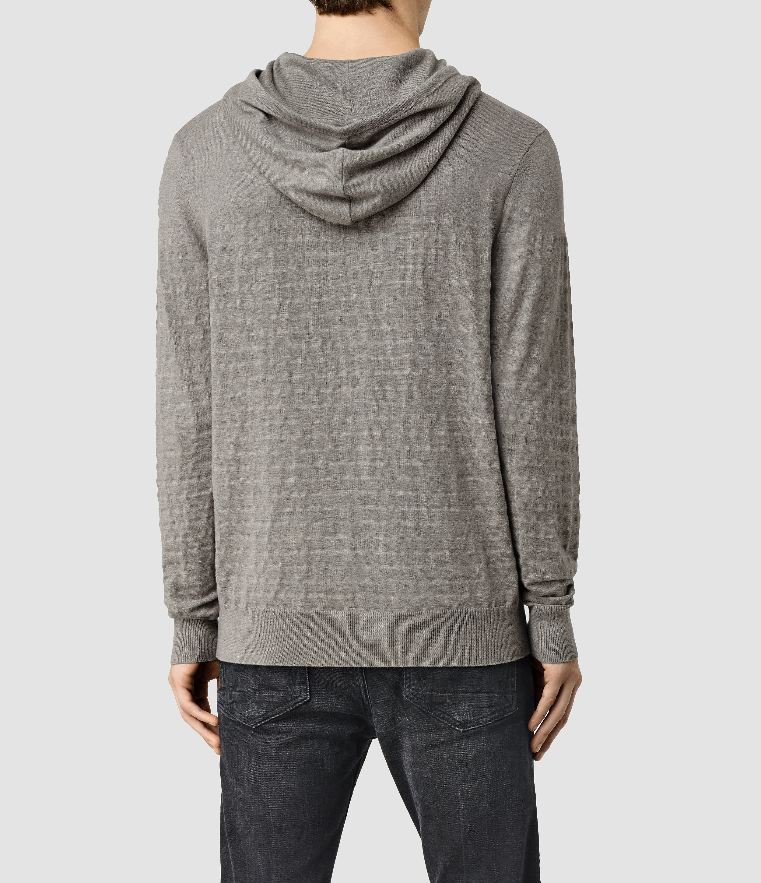 AllSaints Wherry Overhead Hoody Usa Usa in Military Grey (Grey) for Men