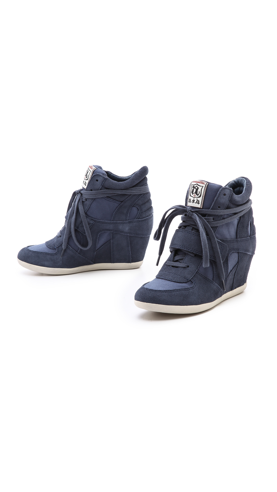lyst ash bowie wedge sneakers in blue