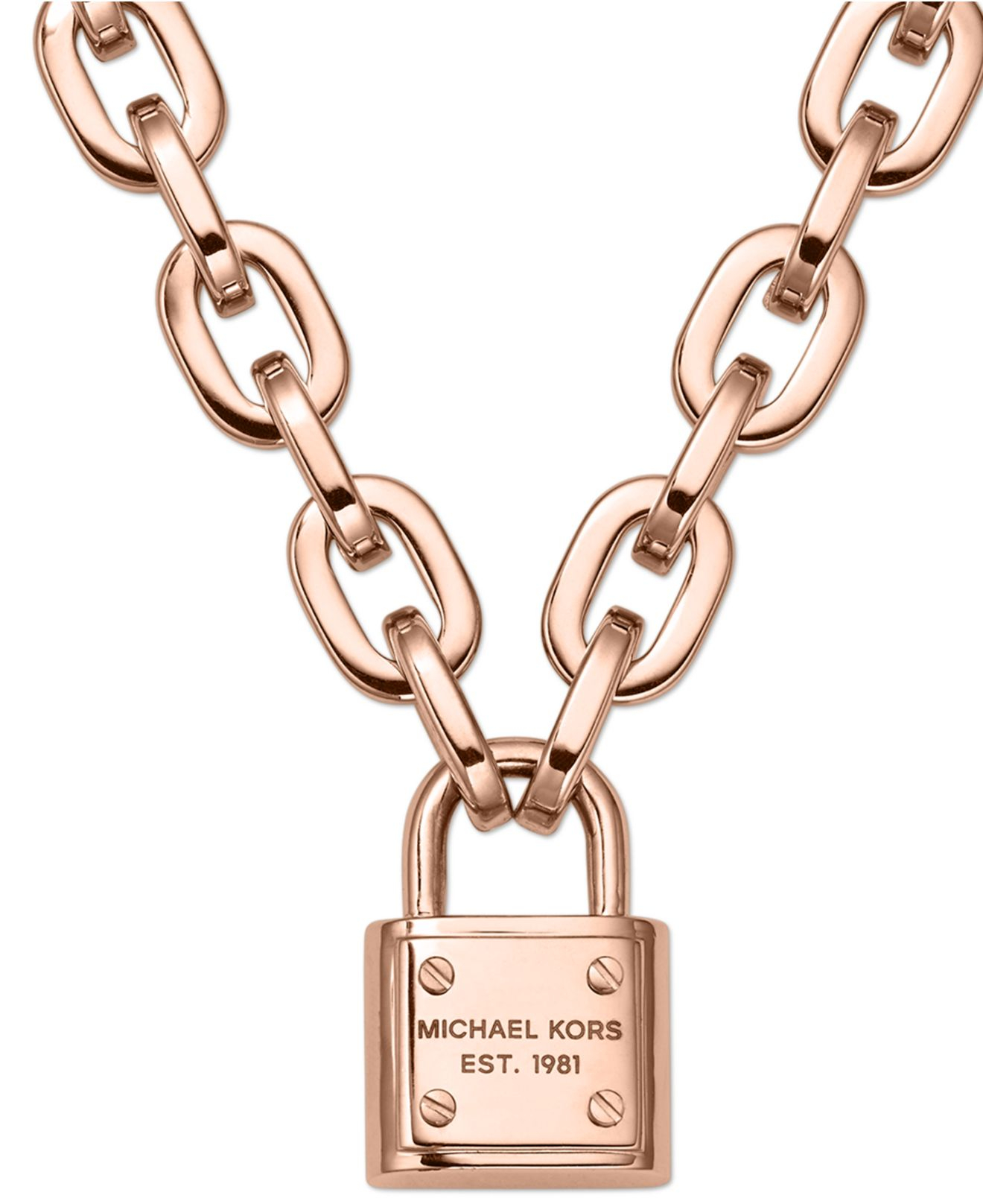 bc4c8fd87896 Gallery. Previously sold at  Macy s · Women s Padlock Necklaces Women s  Michael Kors ...